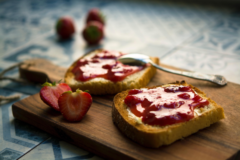 tostadas de fresa